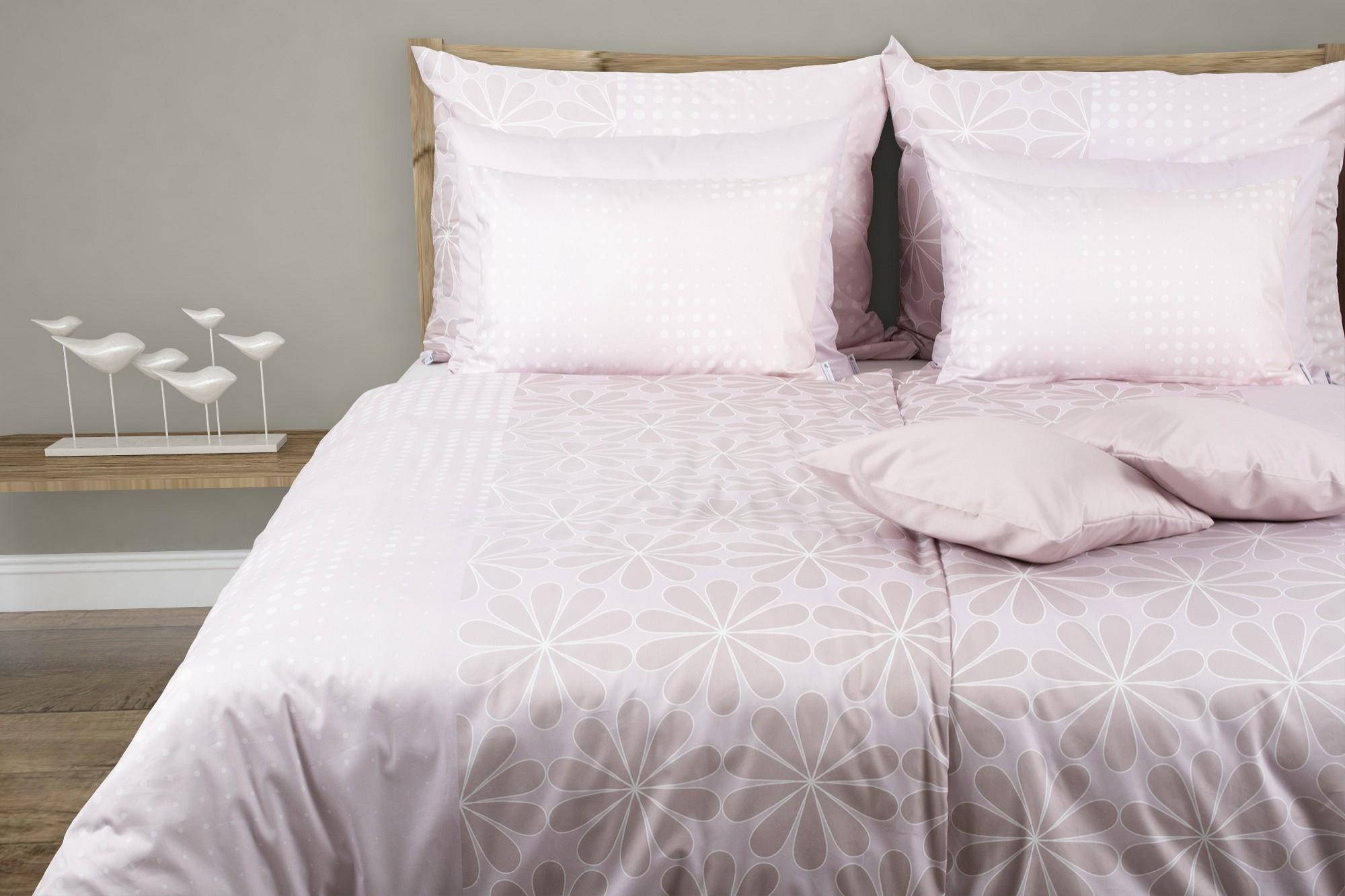 pastellfarbene blumen bettw sche aus baumwoll satin glamonde. Black Bedroom Furniture Sets. Home Design Ideas